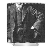 Percival Lowell, American Astronomer Shower Curtain