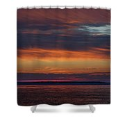 Perdido Pass Red Sunrise Shower Curtain