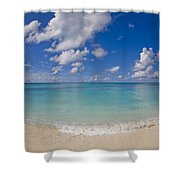 Perfect Beach Day With Blue Skies Shower Curtain