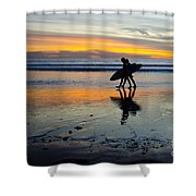 Perfect Day's End Shower Curtain by Athena Lin