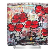 Perfect Poppies Shower Curtain