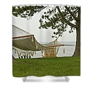 Perfect Spot Shower Curtain by Paul Mangold