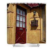 Perfectly Paletted Doorway Shower Curtain