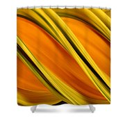 Peripheral Streak Image Of Squash Shower Curtain