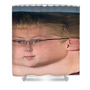 Peripheral Streak Image Shower Curtain
