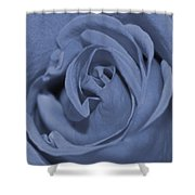 Periwinkle Rose Shower Curtain