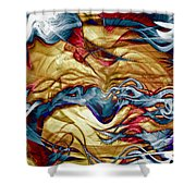 Permanent Waves Shower Curtain