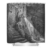 Perrault: Tom Thumb Shower Curtain by Granger