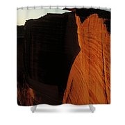 Person Standing Atop The Kings Canyon Shower Curtain