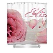 Personalized Princess Petals Shower Curtain