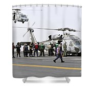 Personnel Load Humanitarian Supplies Shower Curtain