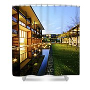 Perspective Of Contemporary Architecture Shower Curtain