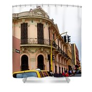 Peruvian Streets Shower Curtain