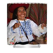 Peruvian Weaver Shower Curtain