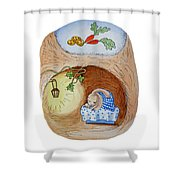 Peter Rabbit And His Dream Shower Curtain