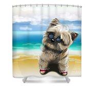 Petey In Coney Island Shower Curtain