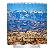Petrified Dunes And La Sal Mountains Shower Curtain