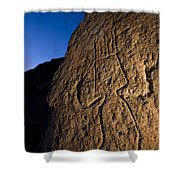 Petroglyphs Are Seen At Twilight Shower Curtain