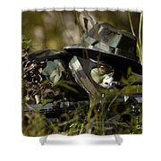 Petty Officer Provides Security Shower Curtain