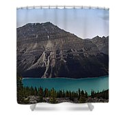 Peyto Lake - Canadian Rocky Mountains Shower Curtain
