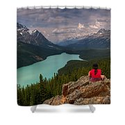 Peyto Solitude Shower Curtain