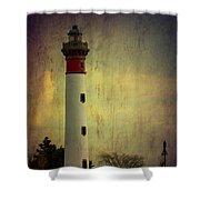 Phare De Ouistreham Or Ouistreham Lighthouse    Caen Shower Curtain