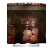 Pharmacy - Kidney Pills And Suppositories Shower Curtain by Mike Savad