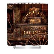 Pharmacy - The Rheumatic Cure Wagon  Shower Curtain