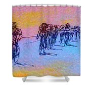 Philadelphia Bike Race Shower Curtain