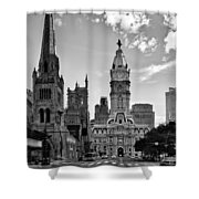 Philadelphia City Hall Bw Shower Curtain