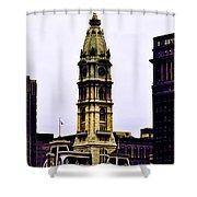 Philadelphia City Hall Tower Shower Curtain