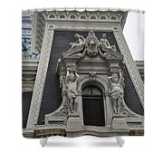 Philadelphia City Hall Window Shower Curtain