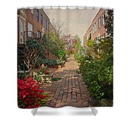 Philadelphia Courtyard - Symphony Of Springtime Gardens Shower Curtain by Mother Nature