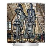Philadelphia Expo: Engine Shower Curtain