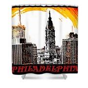 Philadelphia Poster Shower Curtain