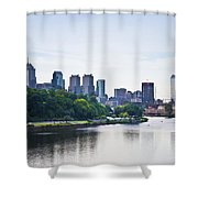Philadelphia View From The Girard Avenue Bridge Shower Curtain by Bill Cannon