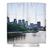 Philadelphia View From The Girard Avenue Bridge Shower Curtain