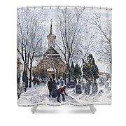 Philadelphia: Winter, 1873 Shower Curtain