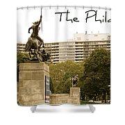 Philadelphian View From Museum Shower Curtain