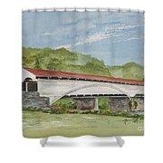 Philippi Covered Bridge  Shower Curtain