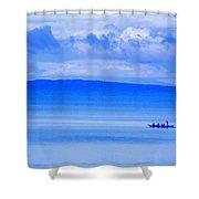 Philippine Sea Sunrise Shower Curtain