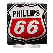 Phillips 66 Shower Curtain