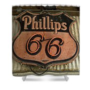 Phillips 66 Vintage Sign Shower Curtain