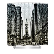 Philly - Broad Street Shower Curtain