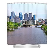 Philly By Water Shower Curtain