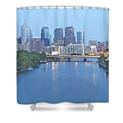 Philly In Blue Shower Curtain