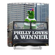 Philly Loves A Winner Shower Curtain by Alice Gipson
