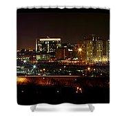 Philly Night Panoramic Shower Curtain