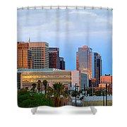 Phoenix Skyline At Dusk Shower Curtain