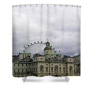 Photo Of London With London Eye In The Background Shower Curtain